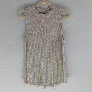 Anthropologie Pure + Good Mock Neck Tank Top L